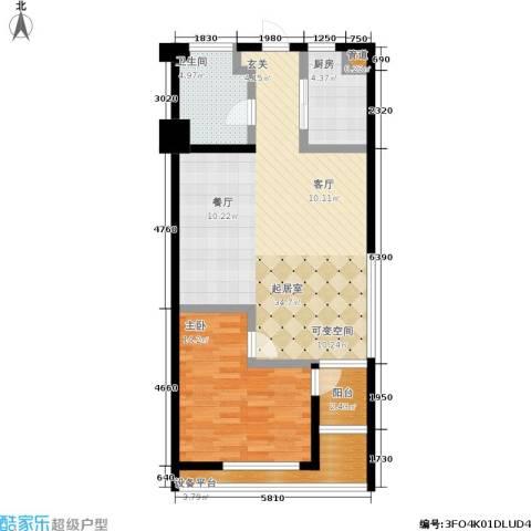 幸福美地1室0厅1卫1厨76.00㎡户型图
