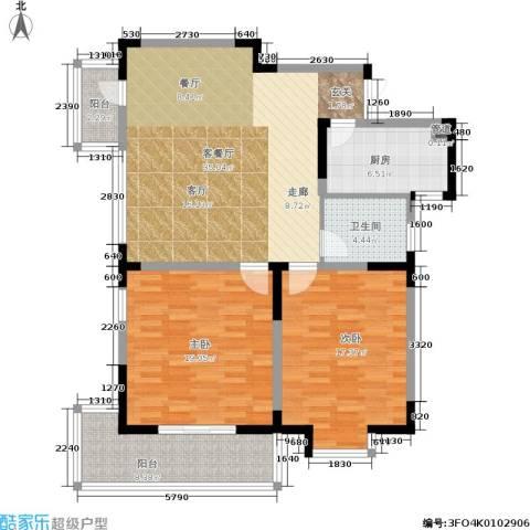 金王府2室1厅1卫1厨105.00㎡户型图