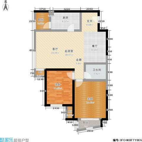 亮马新世家2室0厅1卫1厨118.00㎡户型图