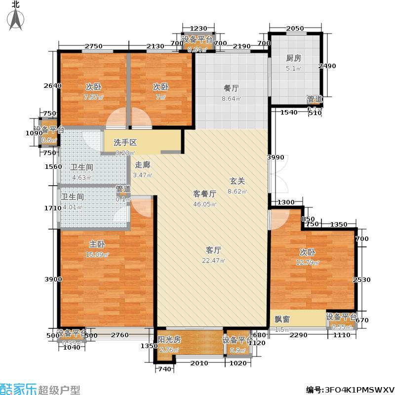 首开·国风美仑139.00㎡9号楼D户型4室2厅