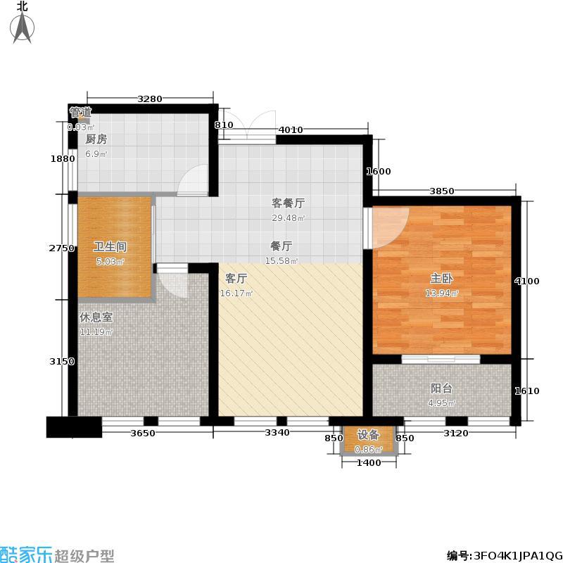 新港天之运花园81.00㎡F2户型2室2厅