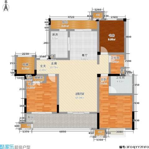中海国际社区3室0厅2卫1厨136.00㎡户型图