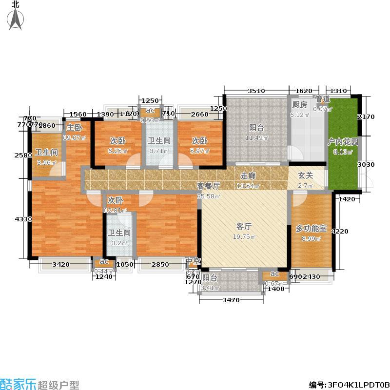 三正瑞士半山163.00㎡H-户型5室2厅