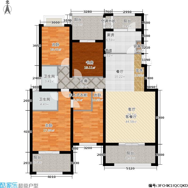 融科玖玖城157.42㎡二期九玺B4户型4室2厅