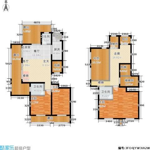 乌桥水岸花园3室0厅3卫1厨205.00㎡户型图