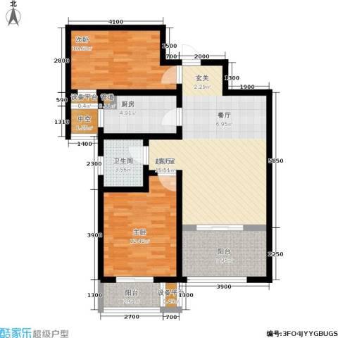 金城丽景2室0厅1卫1厨85.00㎡户型图