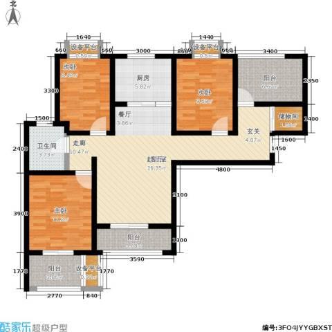 金城丽景3室0厅1卫1厨110.00㎡户型图
