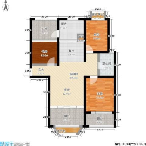 金城丽景3室0厅1卫1厨103.00㎡户型图