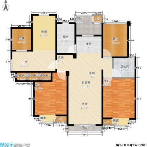 华府壹区2室0厅1卫1厨200.00㎡户型图
