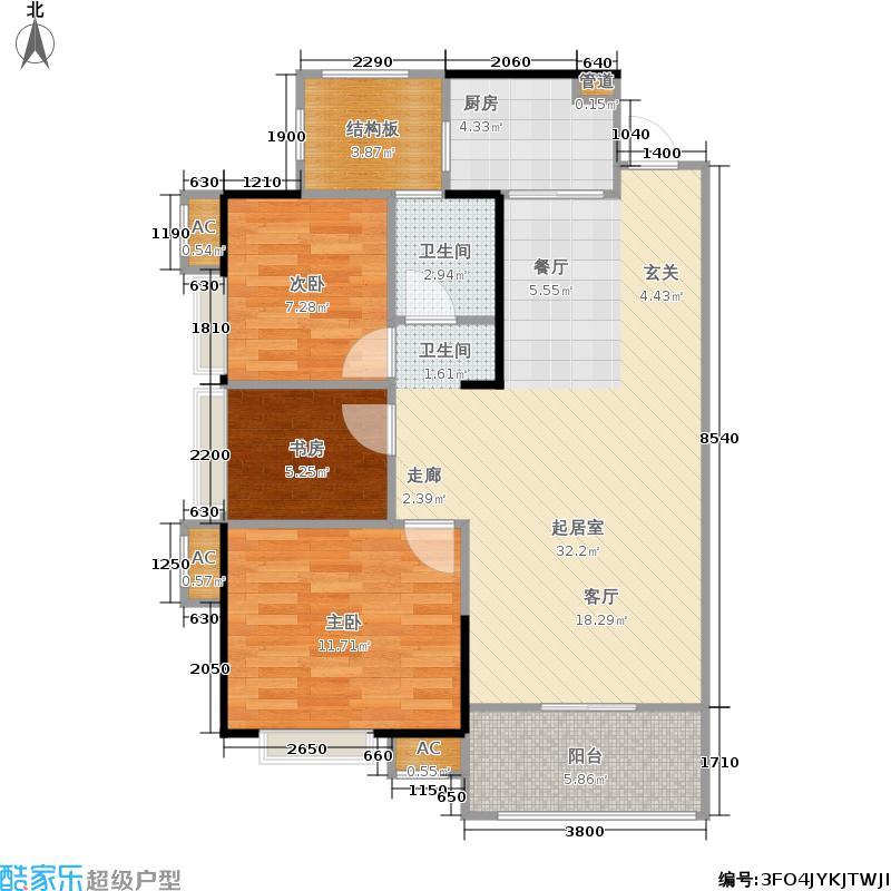 广电兰亭都荟92.00㎡11、12号楼面积9200m户型