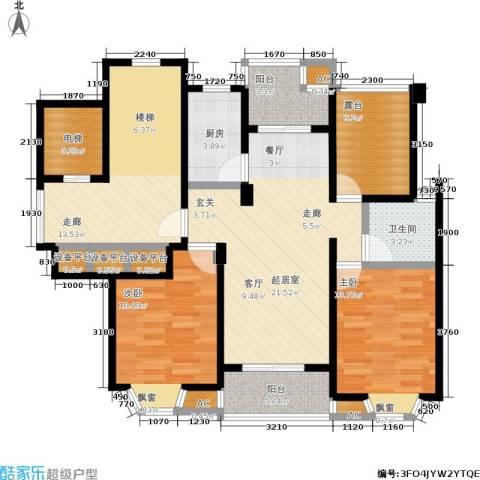 华府壹区2室0厅1卫1厨97.00㎡户型图
