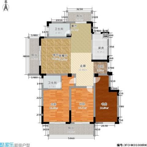 金王府3室1厅2卫1厨135.00㎡户型图