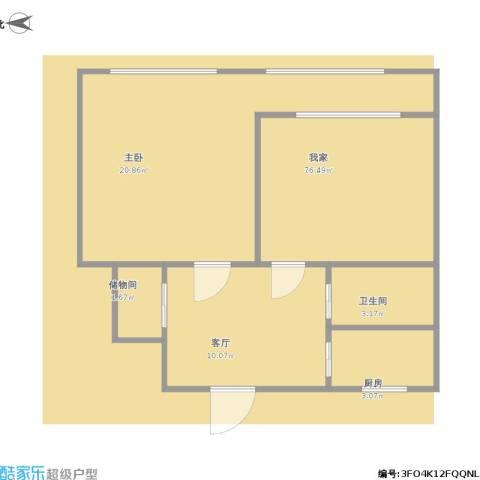 阜成门南大街2室1厅1卫1厨71.00㎡户型图