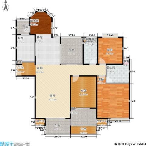 中海御湖熙岸3室1厅2卫1厨174.00㎡户型图