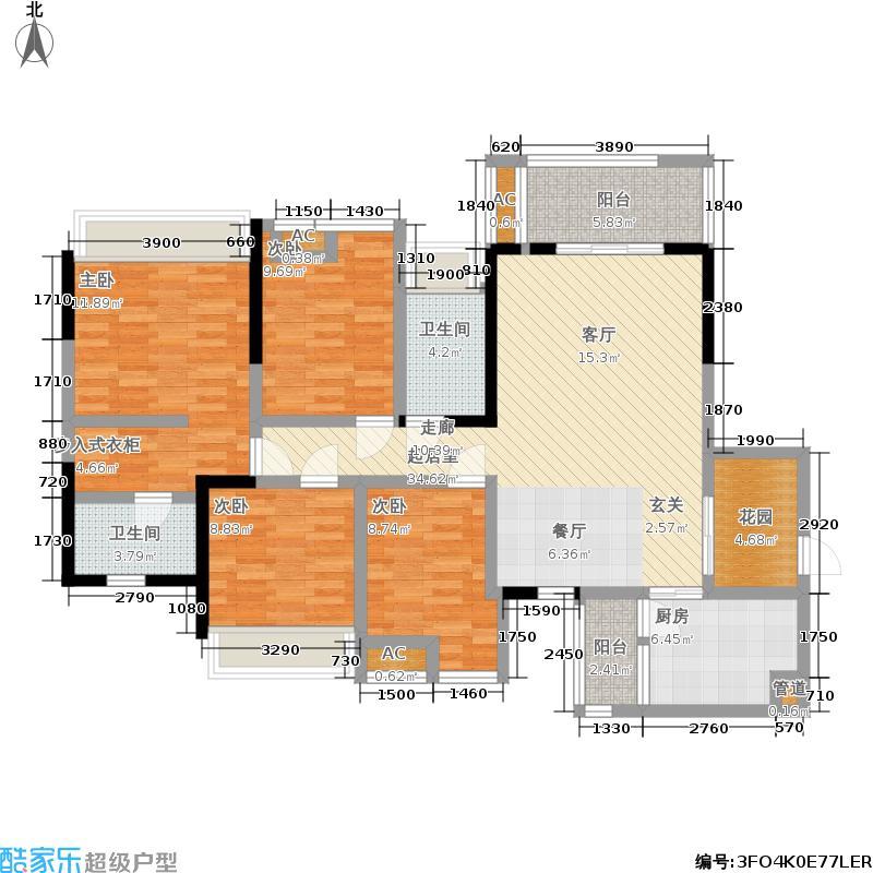 百悦城136.00㎡二期8、9、10、11号楼I1户型