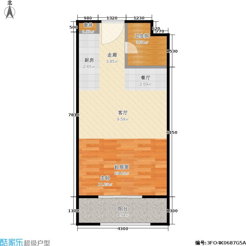 汤INN酒店式公寓40.87㎡A2户型