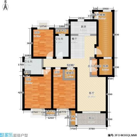 旭日雅筑3室1厅2卫1厨119.00㎡户型图
