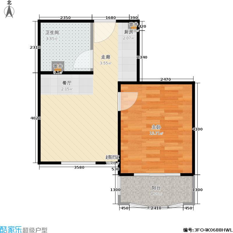 汤INN酒店式公寓43.16㎡B2户型