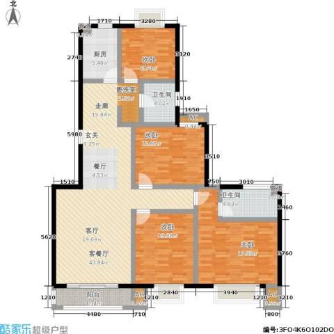 爱达花园紫藤园4室1厅2卫1厨135.00㎡户型图
