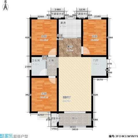 和园3室1厅1卫1厨101.00㎡户型图