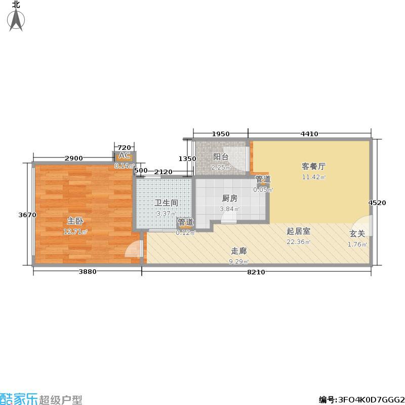 成都国际商城49.00㎡一期4号楼10-29层D8户型