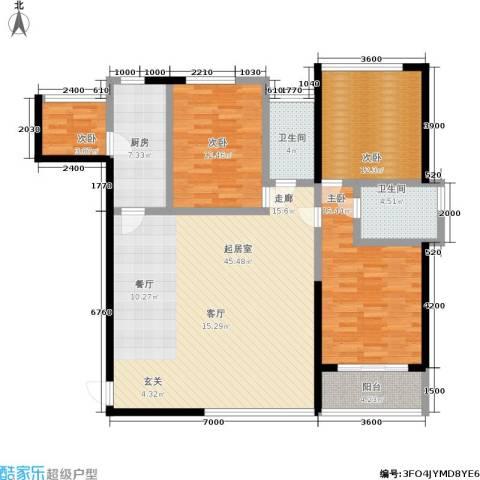 隆源国际城4室0厅2卫1厨119.00㎡户型图