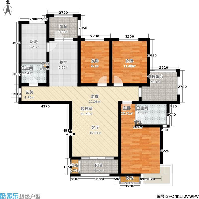 金屋秦皇半岛138.00㎡五区4/8/10号楼户型3室2厅