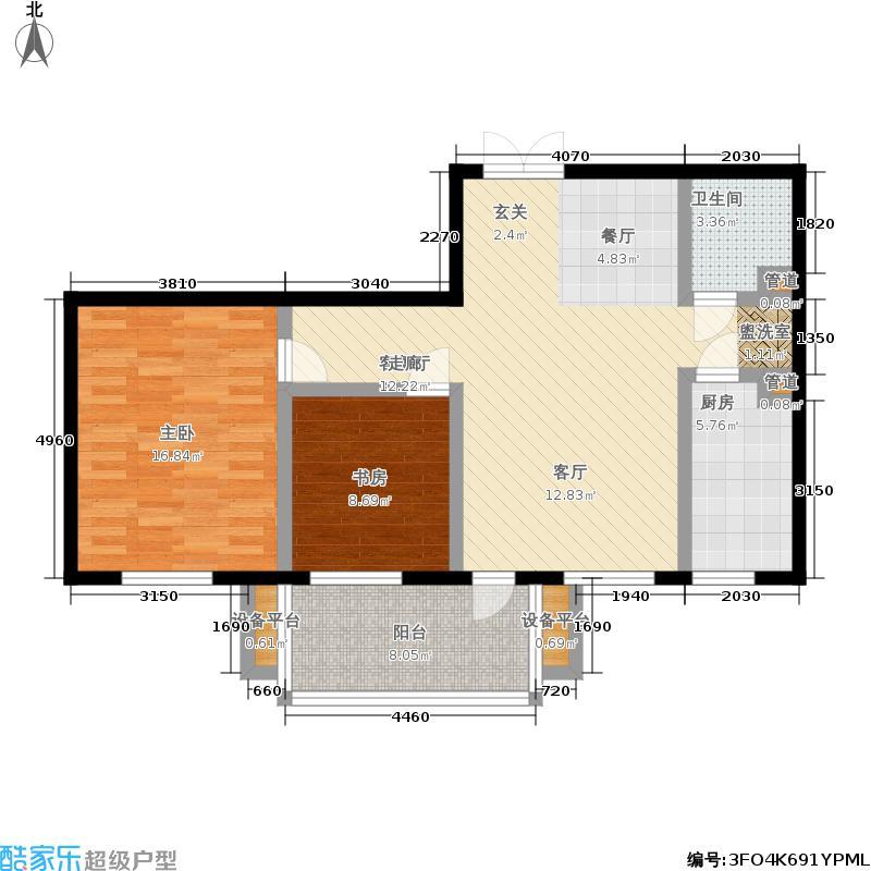 亲亲家园亲亲家园户型图二房-90㎡(5/25张)户型10室
