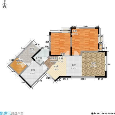 中新城上城2室0厅1卫1厨119.00㎡户型图