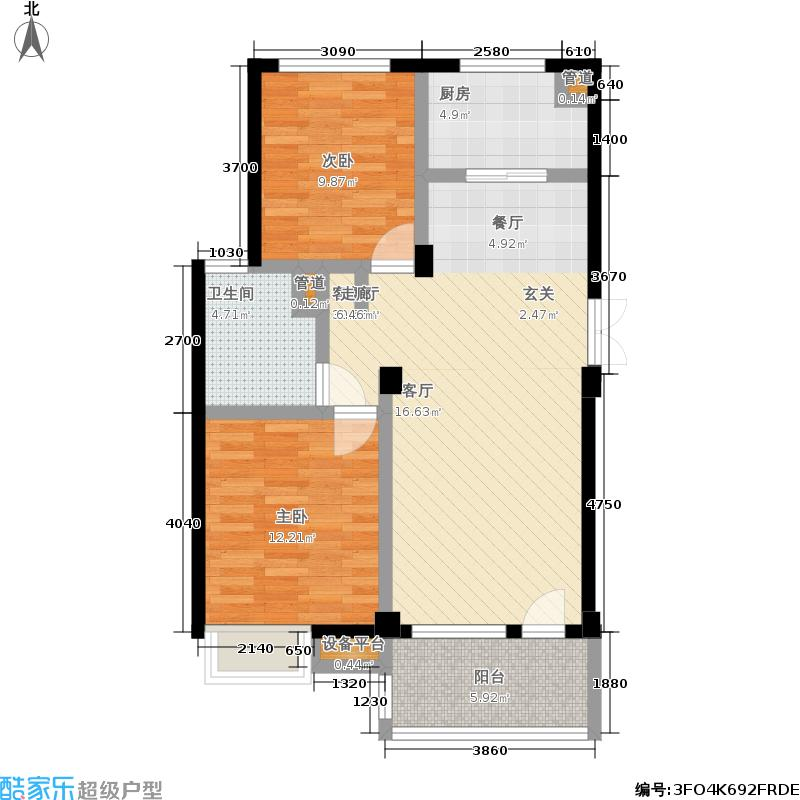亲亲家园亲亲家园户型图二房-82㎡(25/25张)户型10室