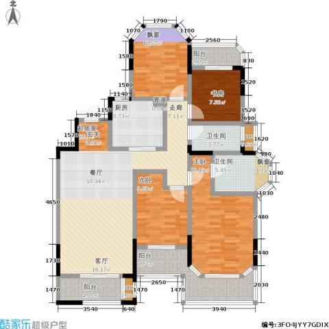 金地湖城艺境4室0厅2卫1厨135.00㎡户型图