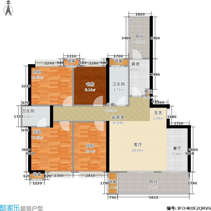 保利公园198116.00㎡紫荆花语4号楼标准层E''户型
