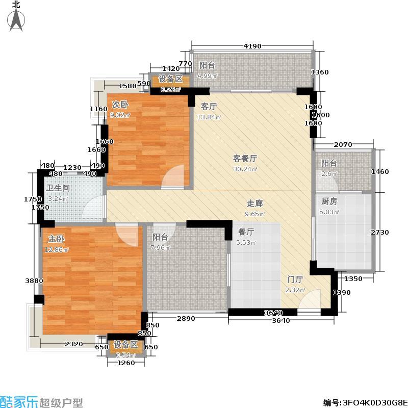 世纪滨江87.33㎡一期16、18、20号楼标准层J1户型