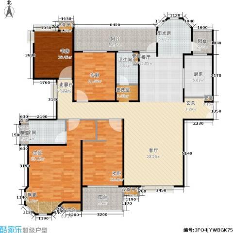 中海御湖熙岸4室1厅2卫1厨170.00㎡户型图