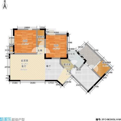中新城上城2室0厅1卫1厨110.00㎡户型图