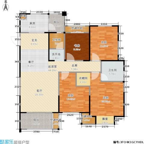 金科中心4室0厅2卫1厨139.00㎡户型图