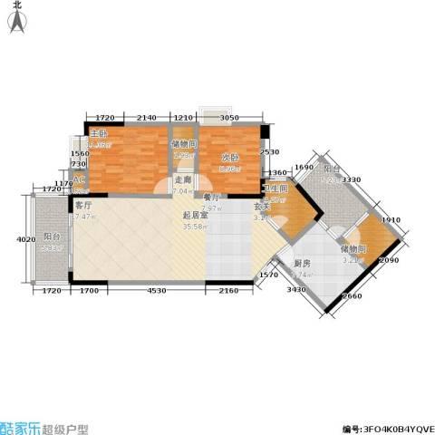 中新城上城2室0厅1卫1厨120.00㎡户型图