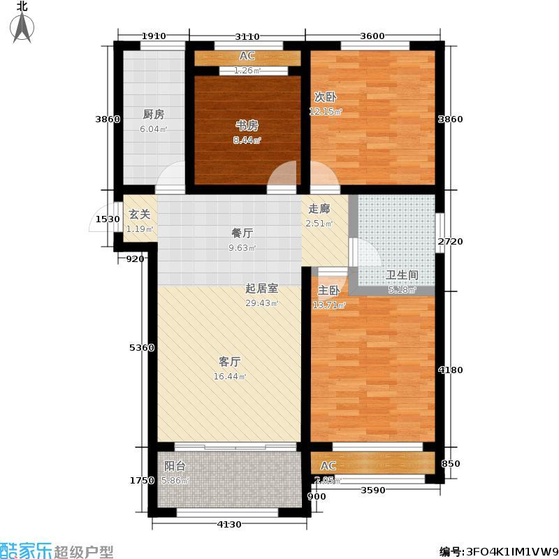 广厦财富中心119.00㎡1#3#5#C1'户型3室2厅