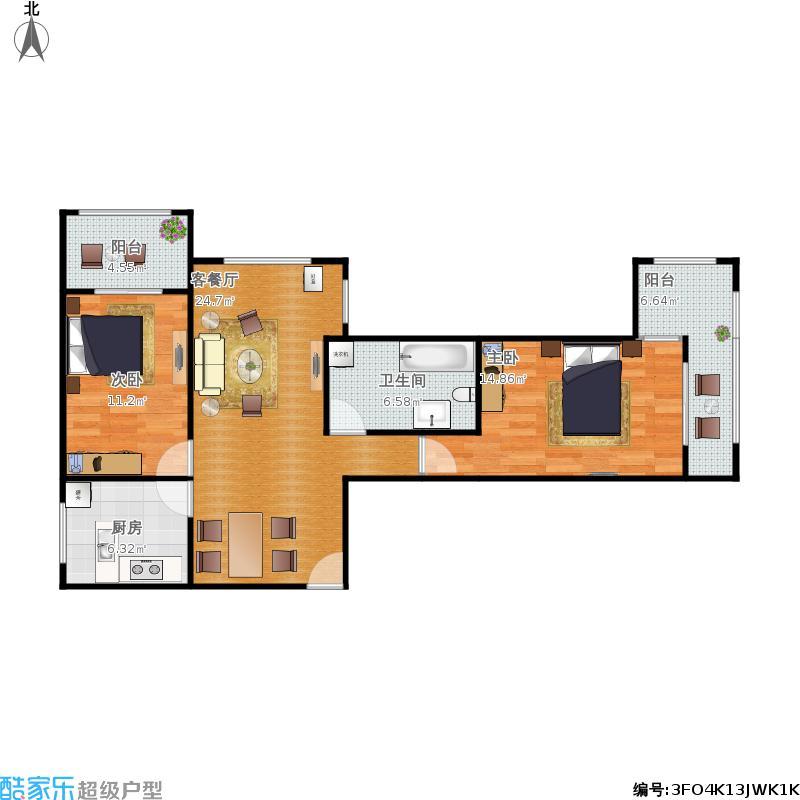 两室两厅92平米