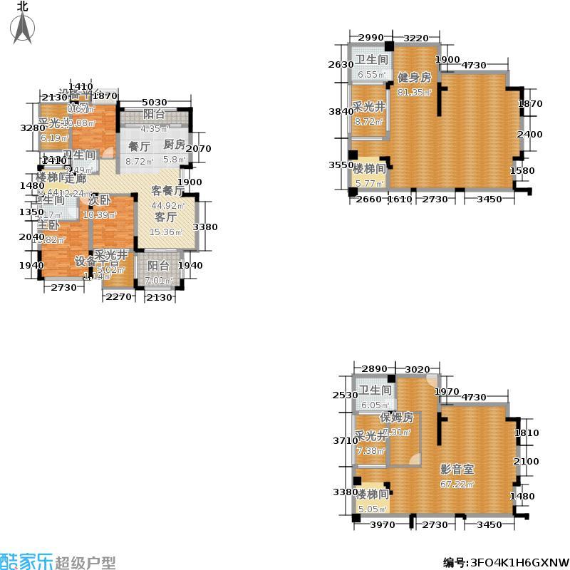 奥园城市天地98.37㎡一期高层1号楼跃层B1户型