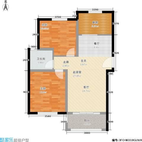 盈嘉香榴湾2室0厅1卫1厨75.00㎡户型图