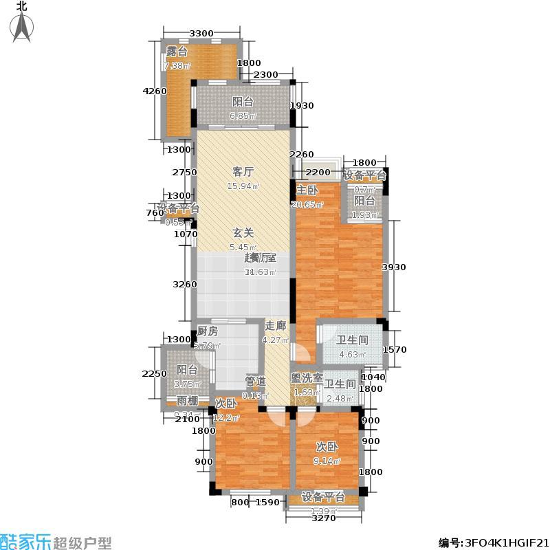 金科天湖小镇132.00㎡一期34号楼标准层B户型