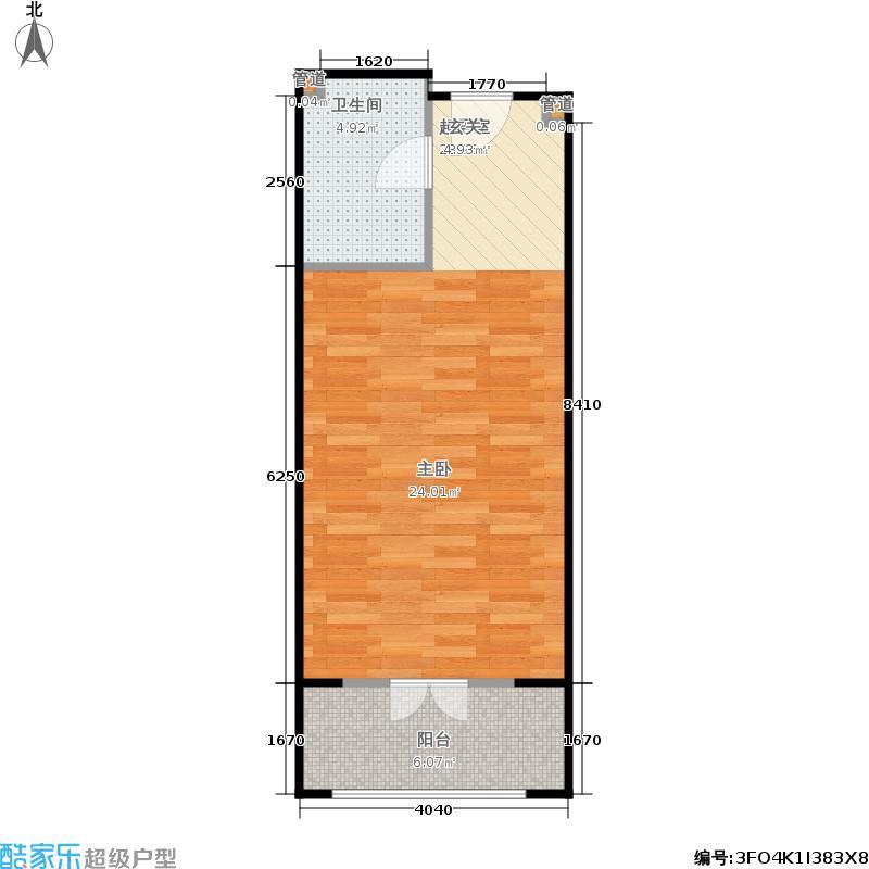 一杯澜51.00㎡二号楼公寓L3户型1室