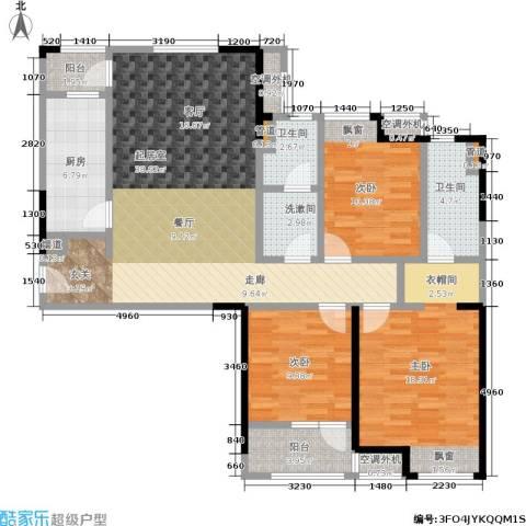 金地格林东郡3室0厅2卫1厨115.00㎡户型图