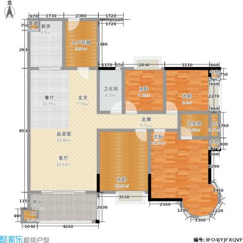 瑞安花园4室0厅2卫1厨139.00㎡户型图