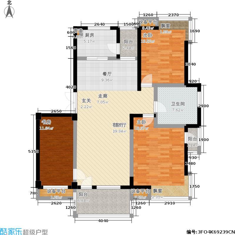 亲亲家园亲亲家园户型图三房-128m2(21/25张)户型10室