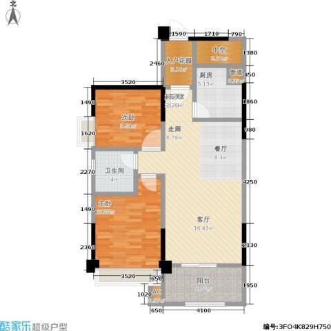 厦门禹洲高尔夫2室0厅1卫1厨110.00㎡户型图