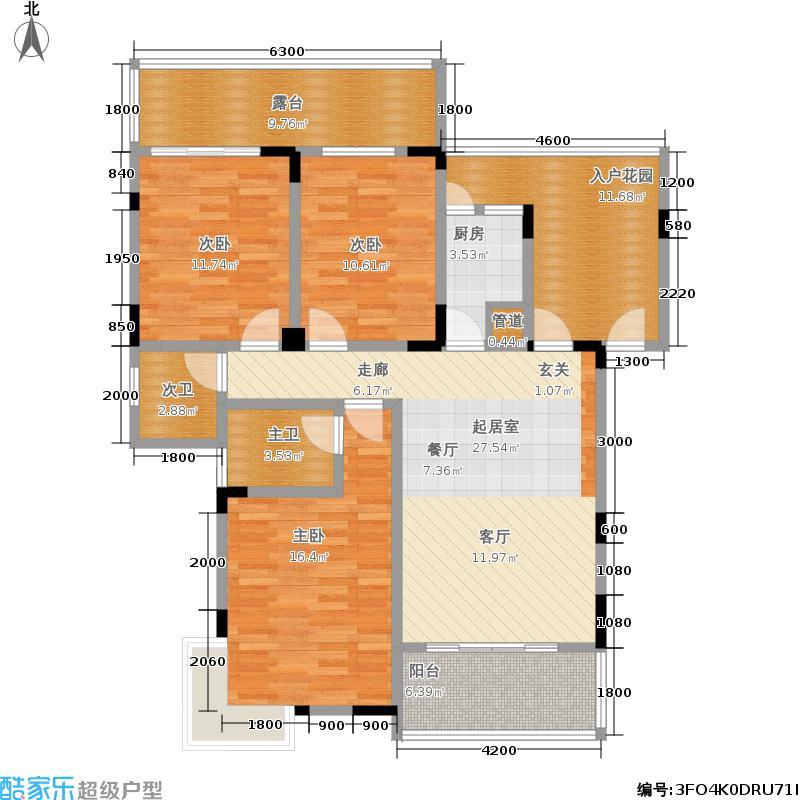 东韵嘉园109.26㎡一期1、2、8、9号楼标准层B7户型