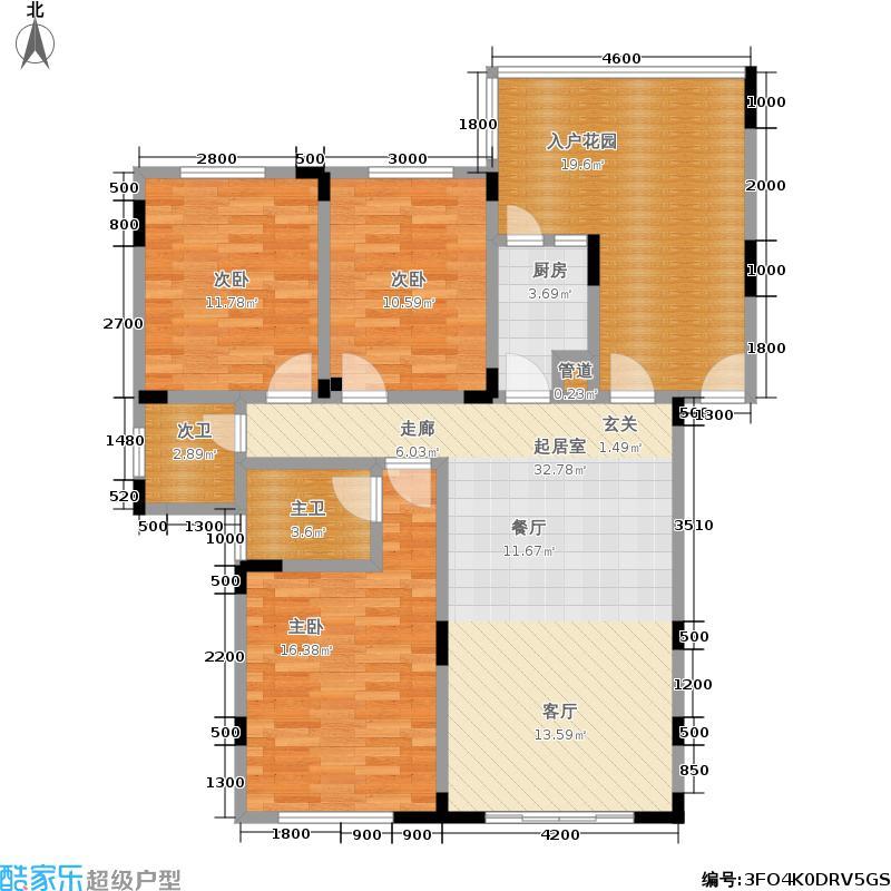 东韵嘉园110.10㎡一期1、2、8、9号楼标准层B1户型
