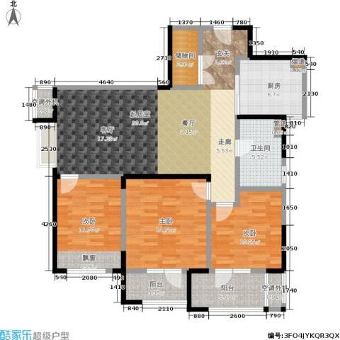金地格林东郡3室0厅1卫1厨110.00㎡户型图